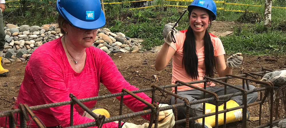 Cleo and Shelley Page at the build site.