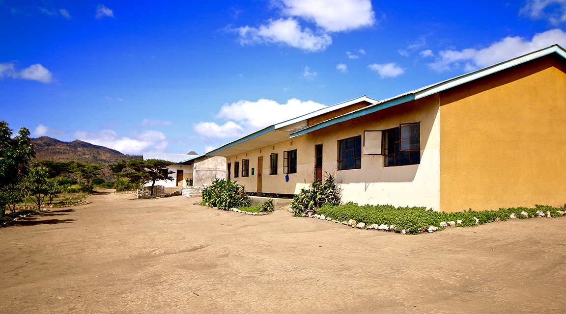 A new school building