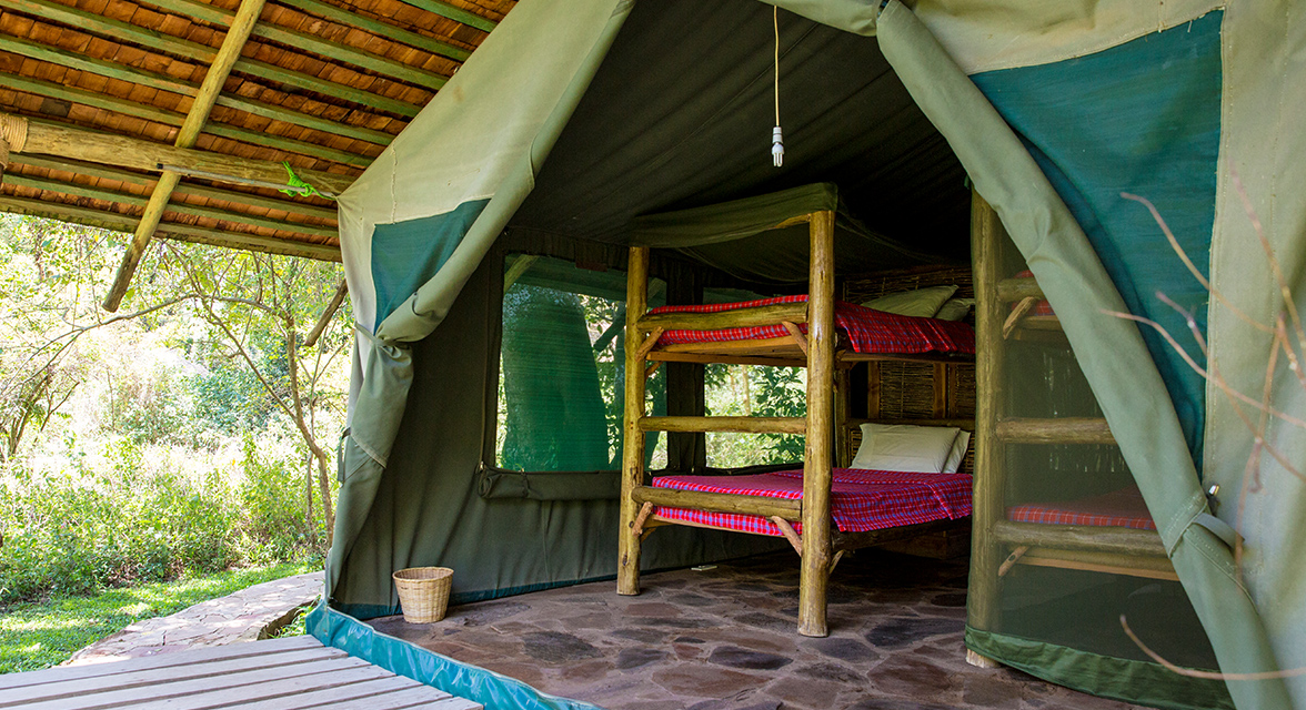 Luxurious interior of a room at Bogani Cottages and Camp