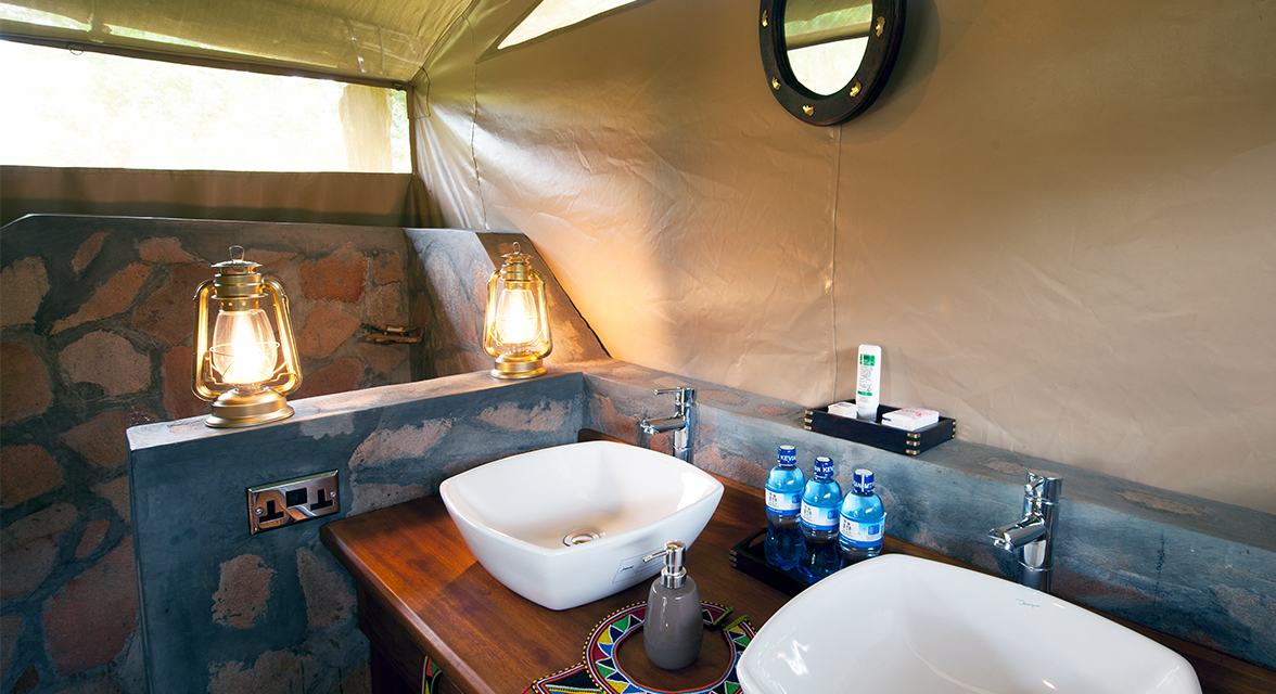Luxurious bathroom facilities of a local accommodation