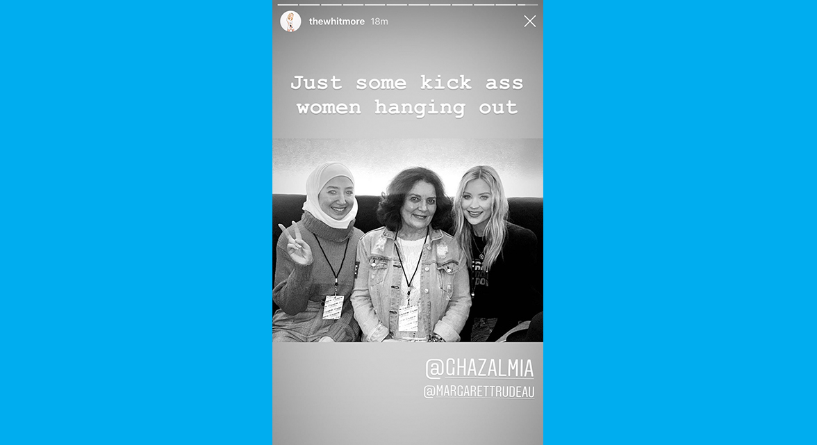 Laura Whitmore Instagram story post.