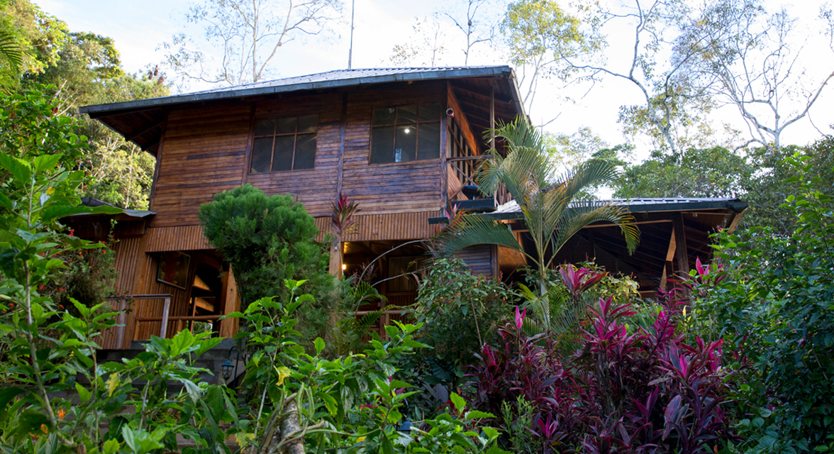 Luxurious cabin at Minga Lodge in the middle of rainforest