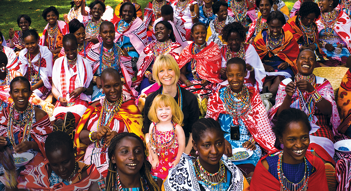 Roxanne Joyal with local mamas in Kenya