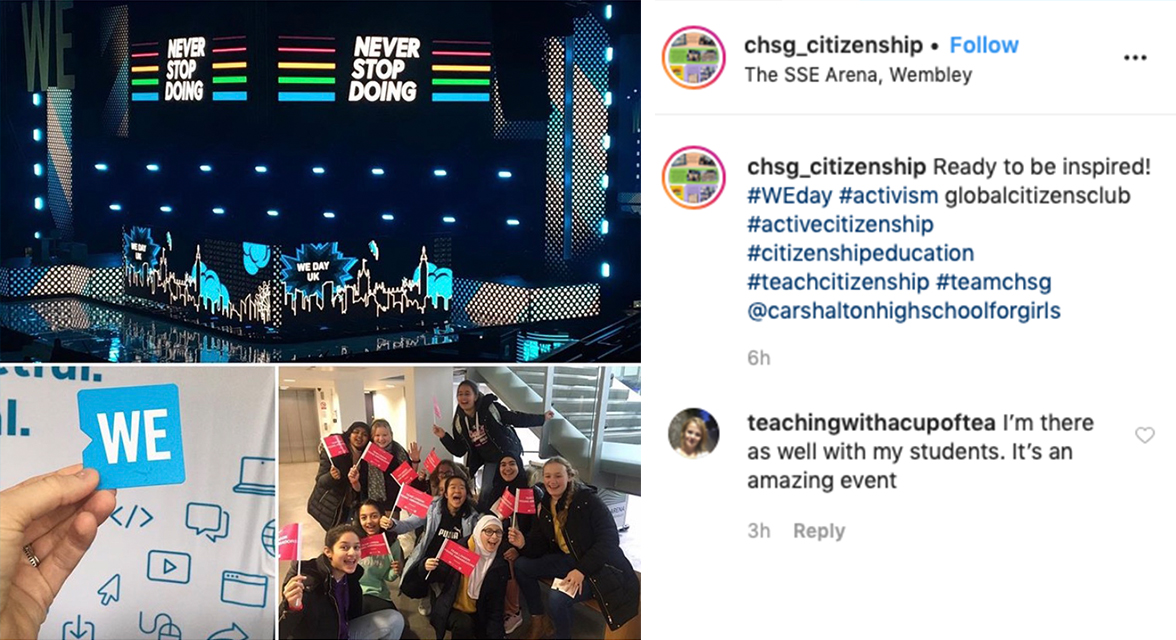 CHSG Citizenship Instagram post.