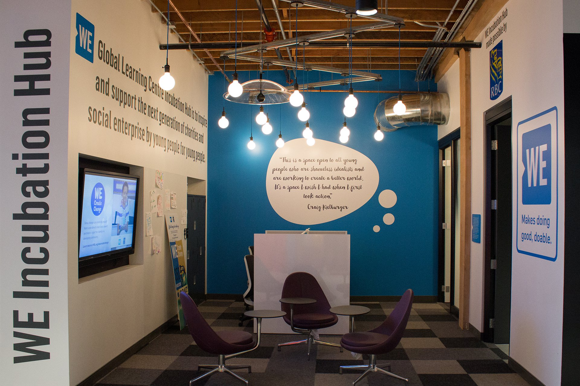 The WE Incubation Hub, where youth can take part in the Social Entrepreneurship Program