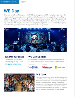 WE Day X Downloadable Resource