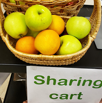 The school's sharing cart.