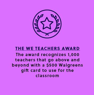 The WE Teachers Award