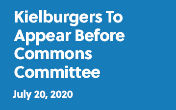 Kielburgers to appear before Commons Committee - July 20, 2020