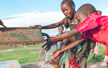 A water well in Kenya
