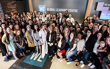 Sophie Trudeau with WE staff