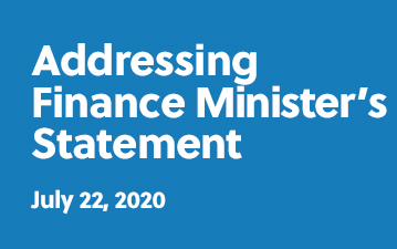 Addressing Finance Minister's statement - July 22, 2020