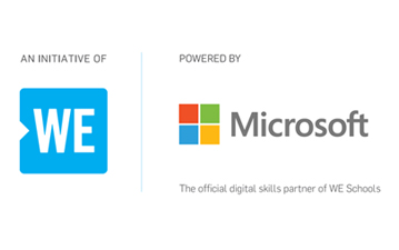 An initiative of WE powered by Microsoft the official digital skills partner of WE Schools