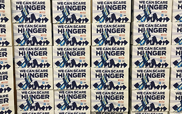 WE Scare Hunger boxes.