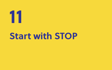 11. Start with STOP
