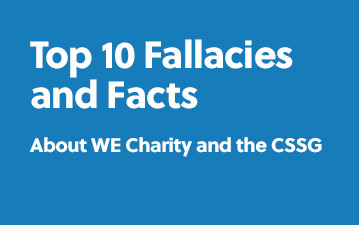 Facts and fallacies about WE Charity and the CSSG