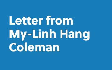 Letter from My-Linh Hang Coleman