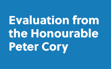 Evaluation from the Honourable Peter Cory