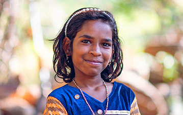 Young local girl in India