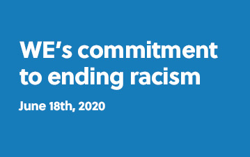WE's commitment to ending racism - June 18th, 2020