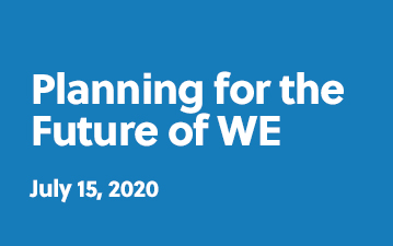 Planning for the future of WE - July 15, 2020