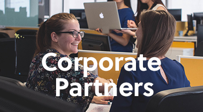 Corporate Partners; employees in an office