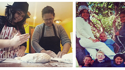 "(All photos courtesy of Zoey Roy.) From left to right: ""My mom and I making bannock to raise money to bring her to Vancouver for the Indspire Awards where I received an award;"" ""This is me when I was 9. I put tin foil at the bottom of my braids, and my hat already matched my shoes."""