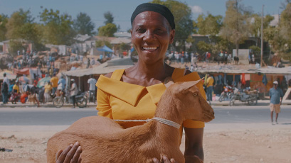 Haitian parents boost income with goats.