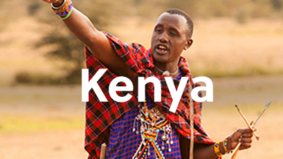 Maasai Warrior training in the savanna in Kenya