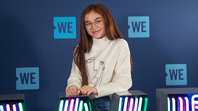 Backstage at WE Day with Anna Cathcart
