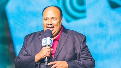 Martin Luther King III backstage at WE Day.