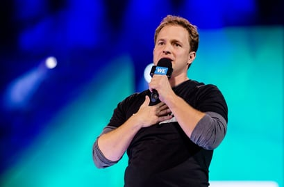 Marc Kielburger speaking at WE Day event