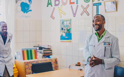 A doctor at Baraka Hospital, Kenya