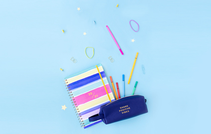 ME to WE Back to School Share Positive Vibes Pencil Case