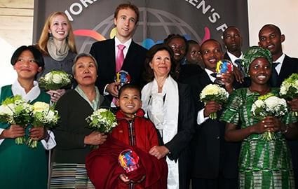 Craig receives the World Children's Prize among other recipients