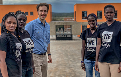 Craig Kielburger with WE College students in Kenya