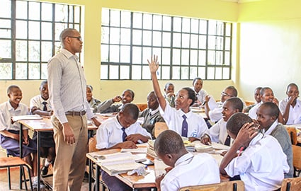 Class in progress, Kenya