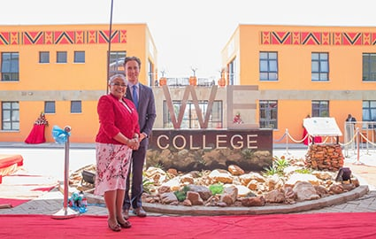 Craig Kielburger and First Lady of Kenya at the WE College opening