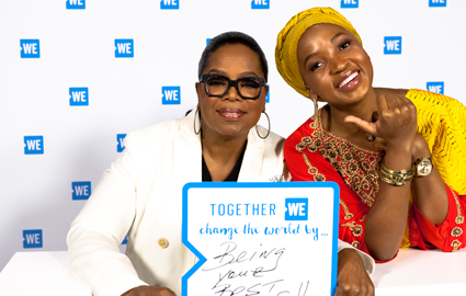 Oprah and Mpumi at WE Day