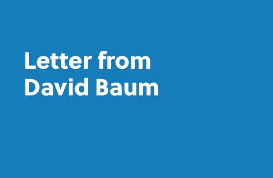Letter from David Baum