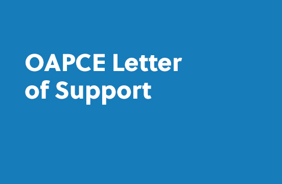 OAPCE Letter of Support