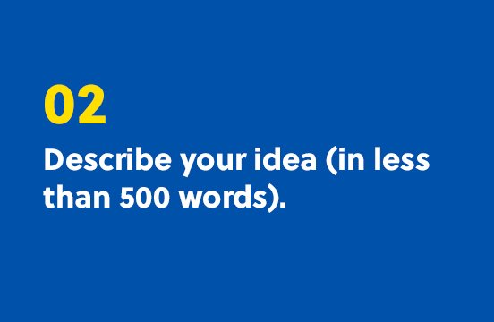 2. Describe your idea (in less that 500 words).