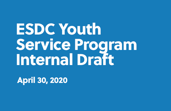ESDC Youth Service Program internal draft - April 30, 2020