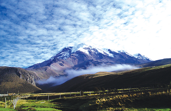 Scenic view of mountainous landscape in Ecuador
