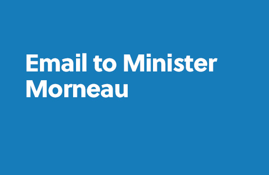 Email to Minister Morneau