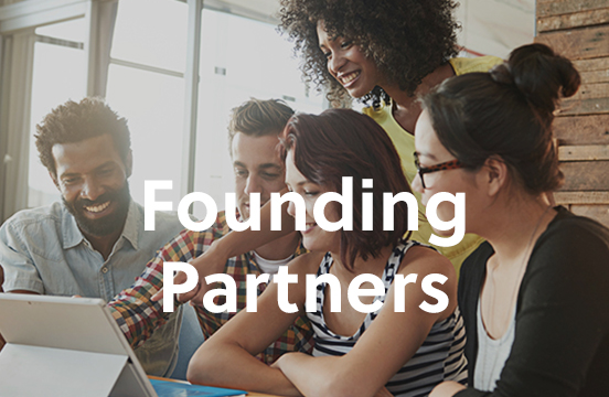 Founding Partners; employees working together