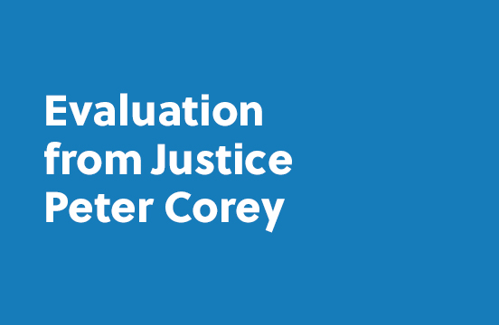 Evaluation from Peter Corey
