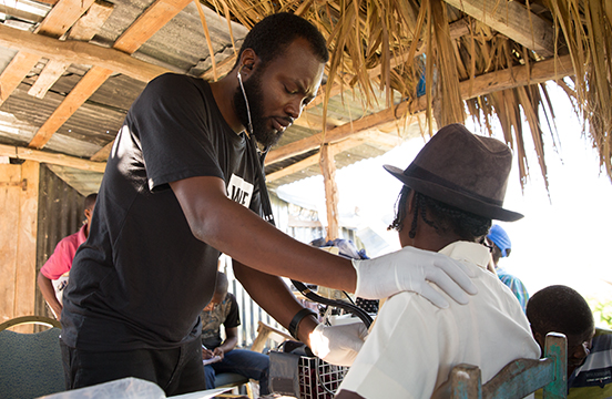 A doctor in Haiti