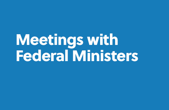 Meetings with Federal Ministers