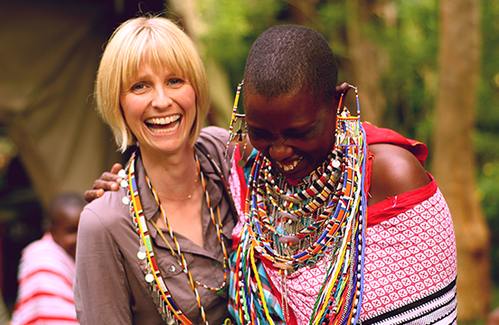 Roxanne Joyal and local mama in Kenya